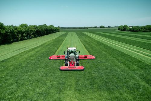 Kverneland 3336 FT with 3.60m working width and SemiSwing conditioner.