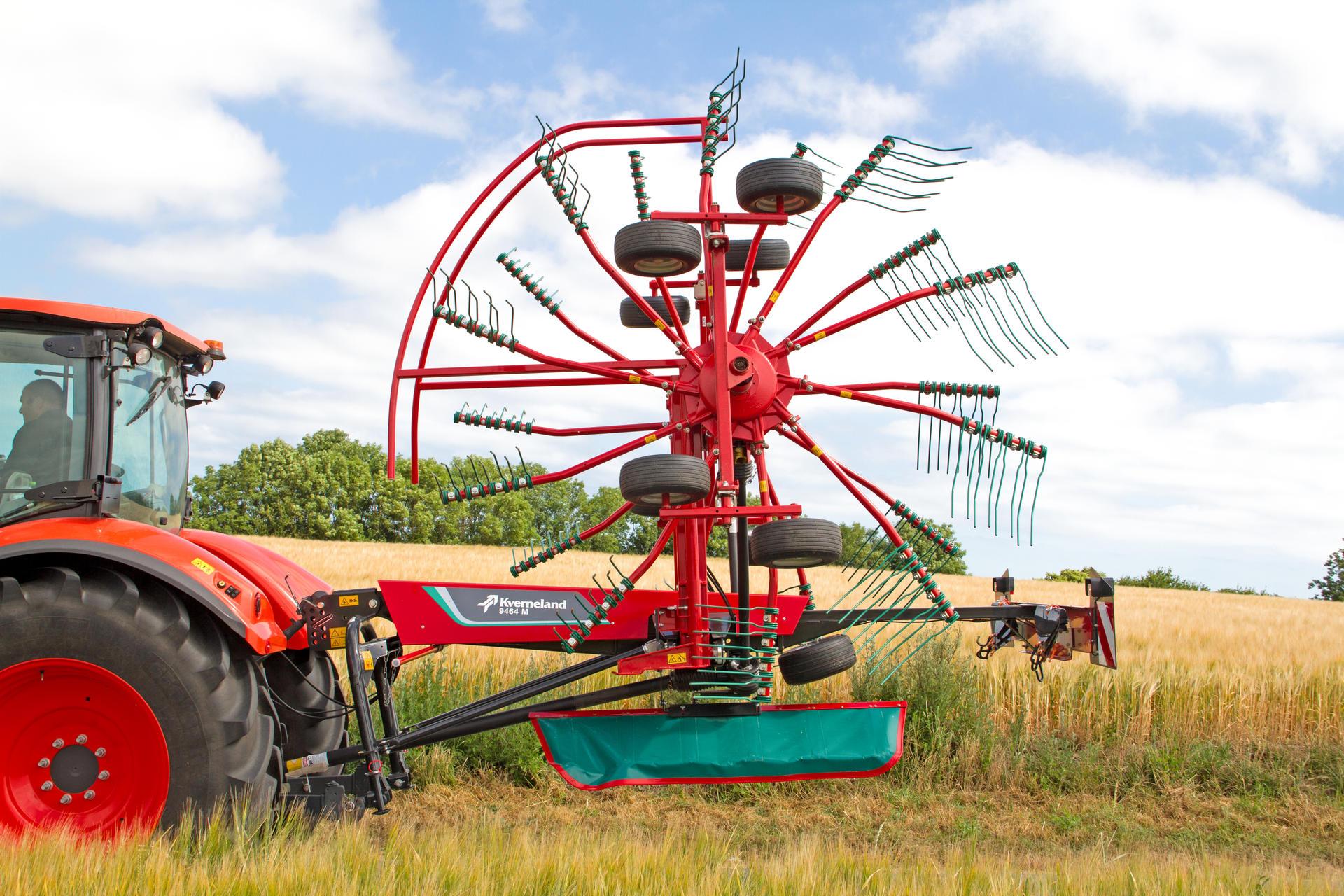 Kverneland 9464m Compactline Rake With Working Width Of 64m Spinning Bike Tl 8555 9464 M