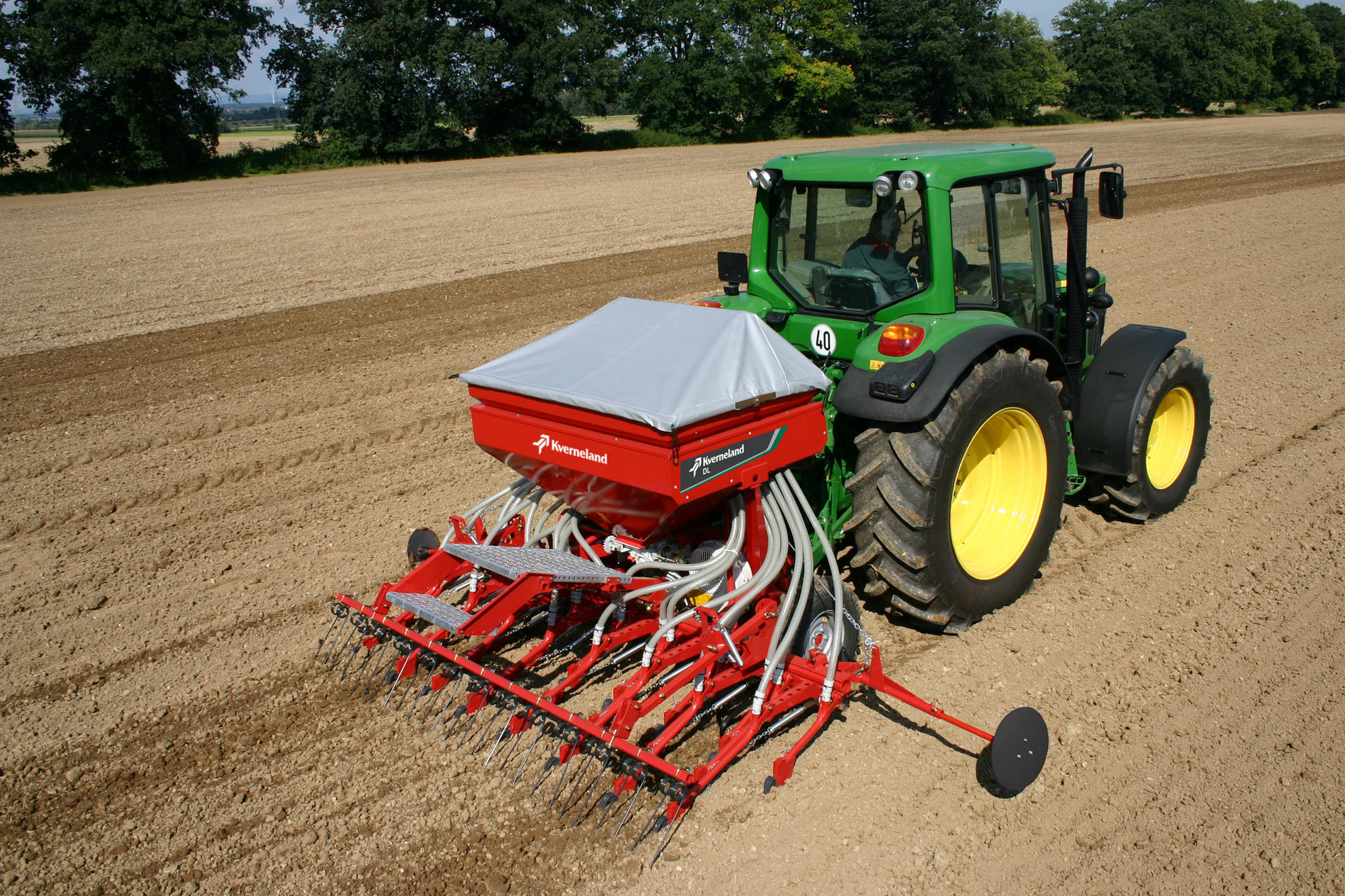 Compact Tractor Seeder : Kverneland dl seed drills seeding equipment